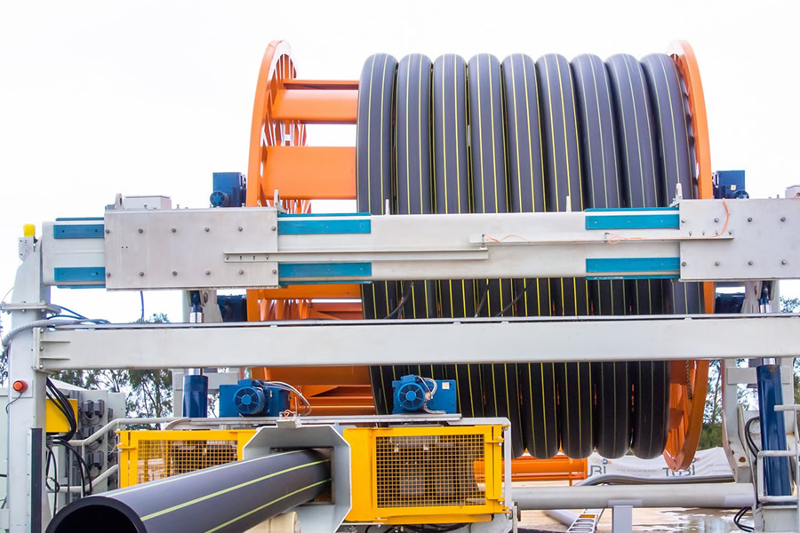 Modular HDPE Pipe Extrusion System Reduces Logistics, Cost for Infrastructure Projects